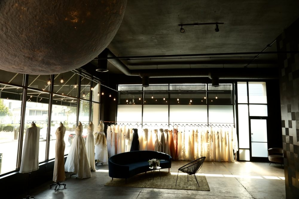 the modern space of Luna Boutique