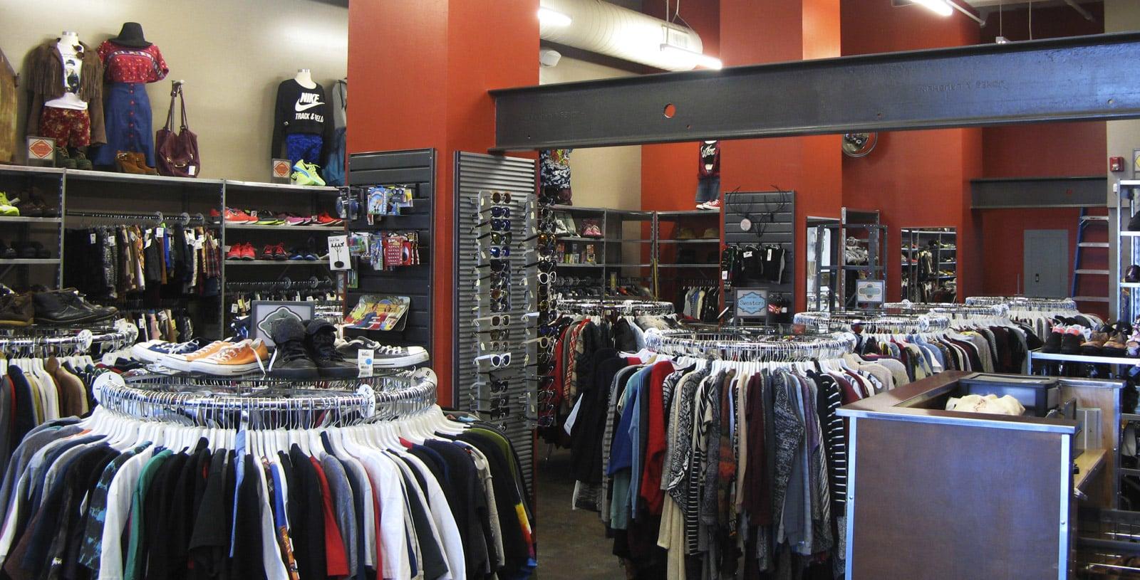 clothes at Buffalo Exchange