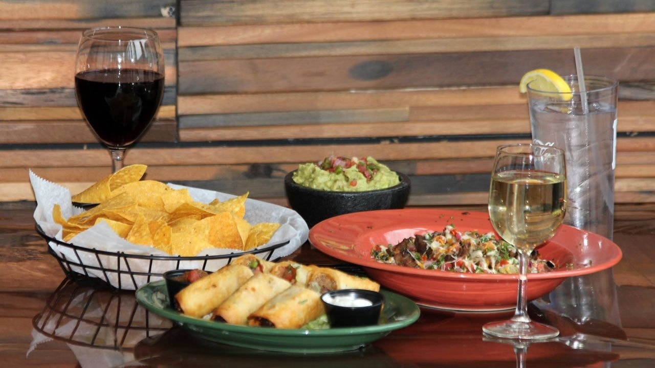 chips, guacamole, wine and more from Steel Cactus