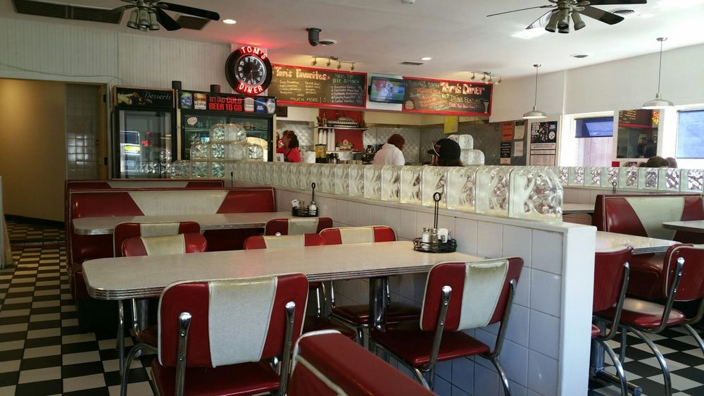 the classic diner look at Tom's diner