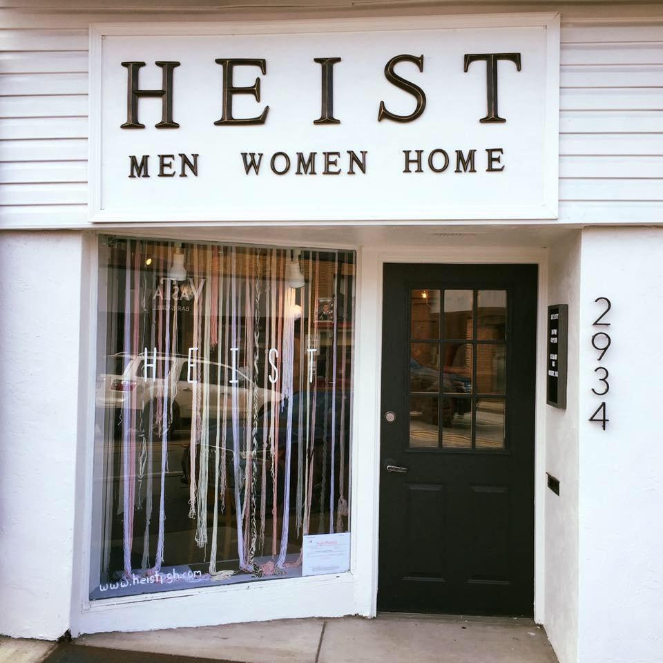 Heist men/women/home consignment shop