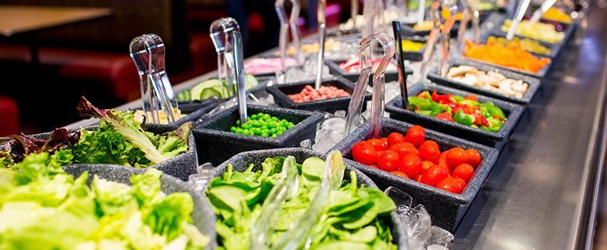 Salad bar at Eat N' Park