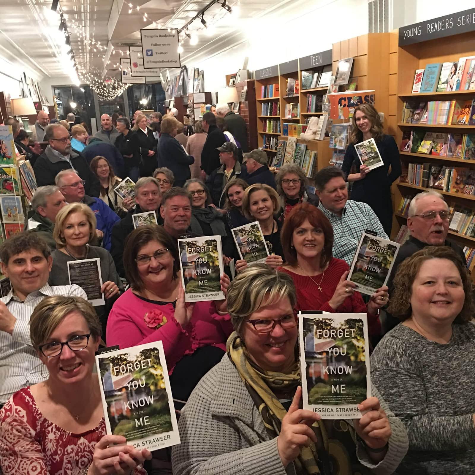 a book club meeting at Penguin Bookshop