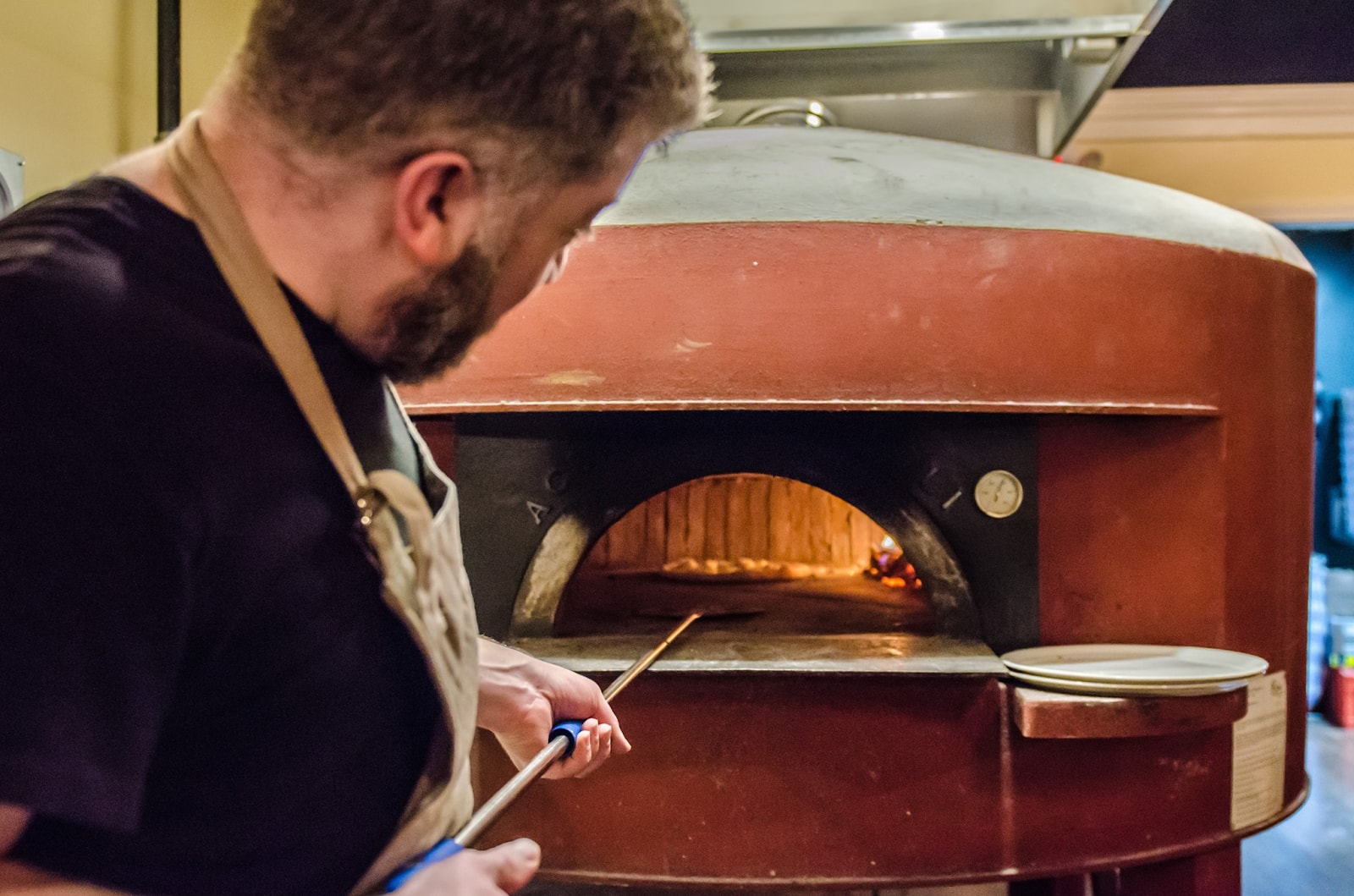 the pizza oven at Pizza Taglio