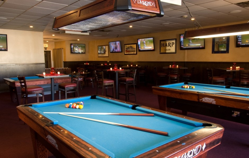 pool tables at Mullen's