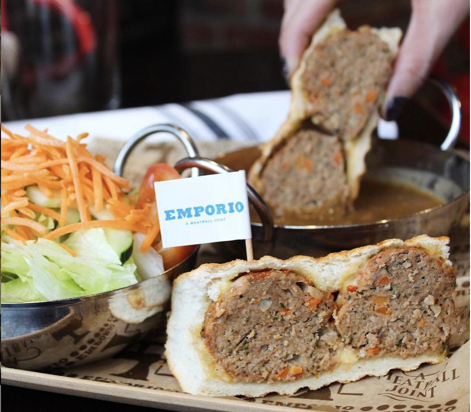 meatball sandwich at Emporio