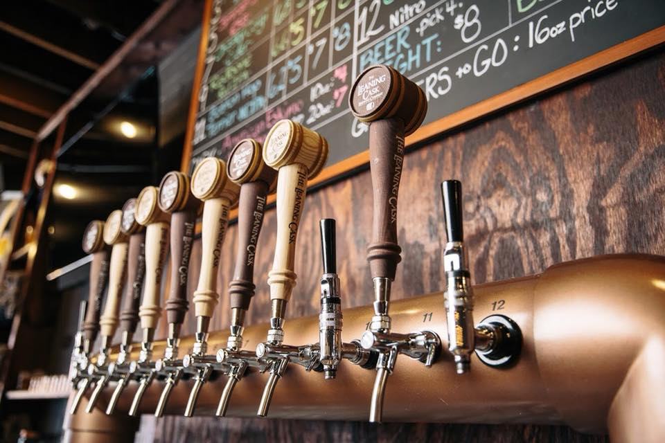 The Leaning Cask Draft handles