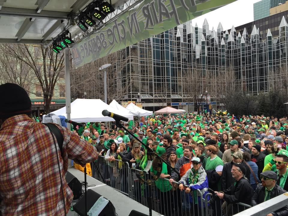 Market Square at St. Patrick's Day