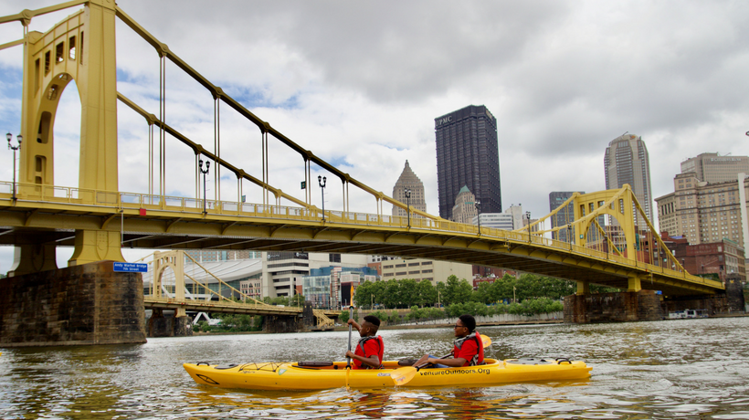 Kayakers in Pittsburgh