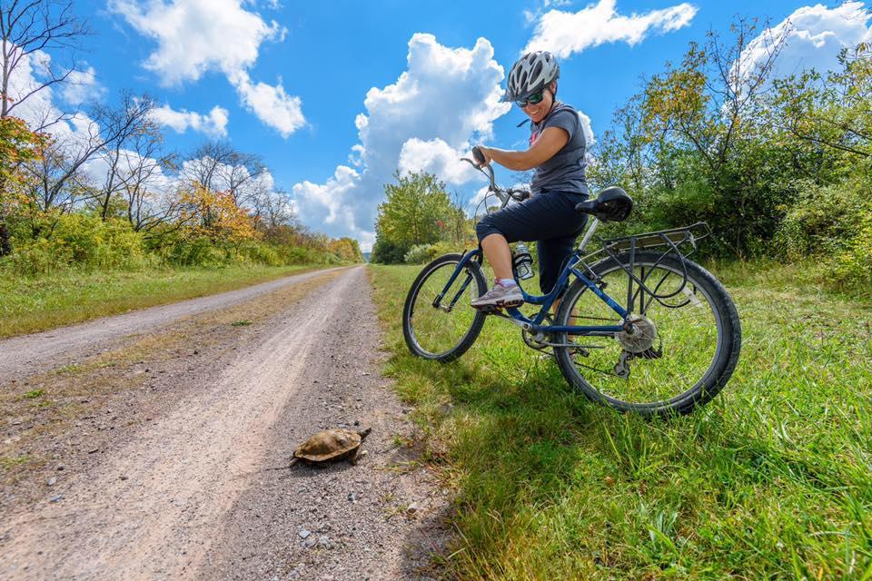 Biker on a trail