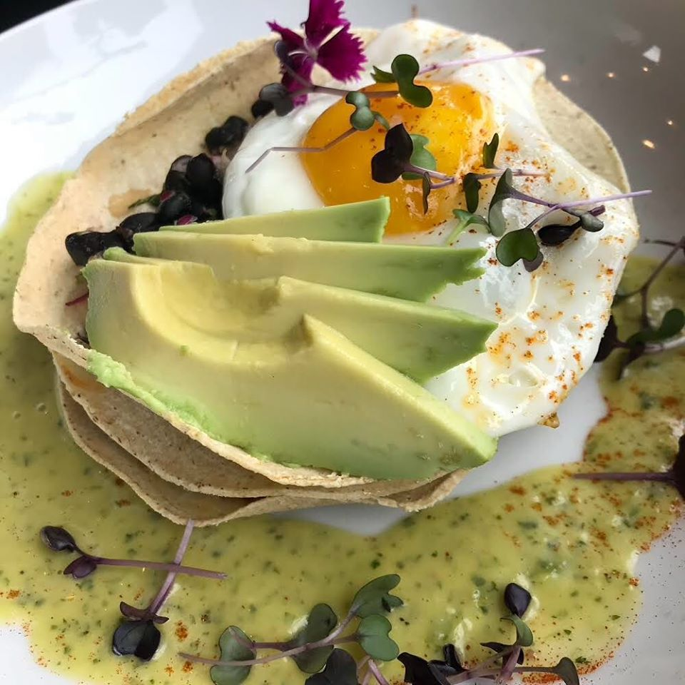 The fanciest egg on a stack tortillas, ever!