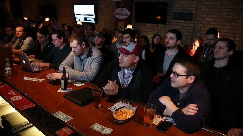 Soccer fans gather at the Globe Pub on Irving Park Road in Chicago on Feb. 15, 2016, to hear a presentation about starting a North American Soccer League team in Chicago.