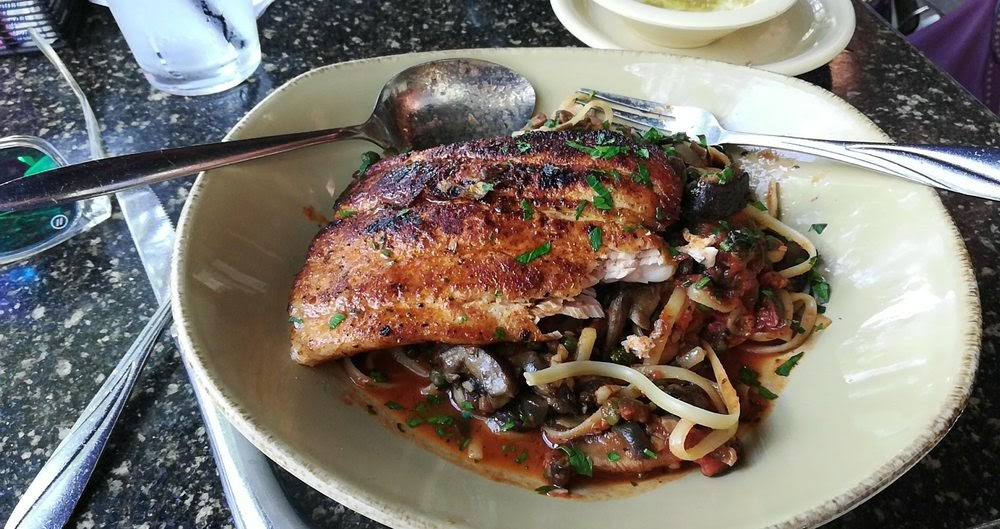 Photo of Pannullo's Italian Restaurant - Winter Park, FL, United States. Salmon lunch...$10