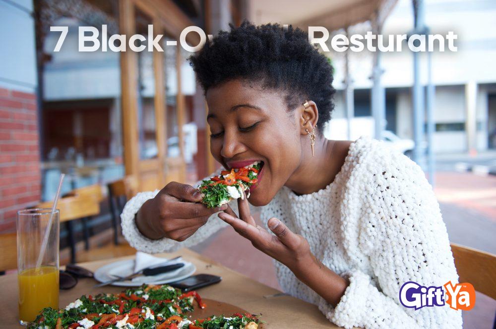 Woman eating Vegan Pizza