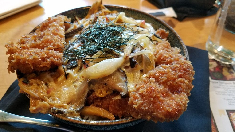 Photo of Sushi Zushi - Austin, TX, United States. Katsu Don with pork.  Very hearty and tasty.