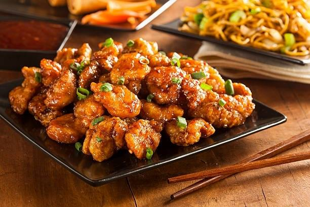 Chinese dish at Silk Road
