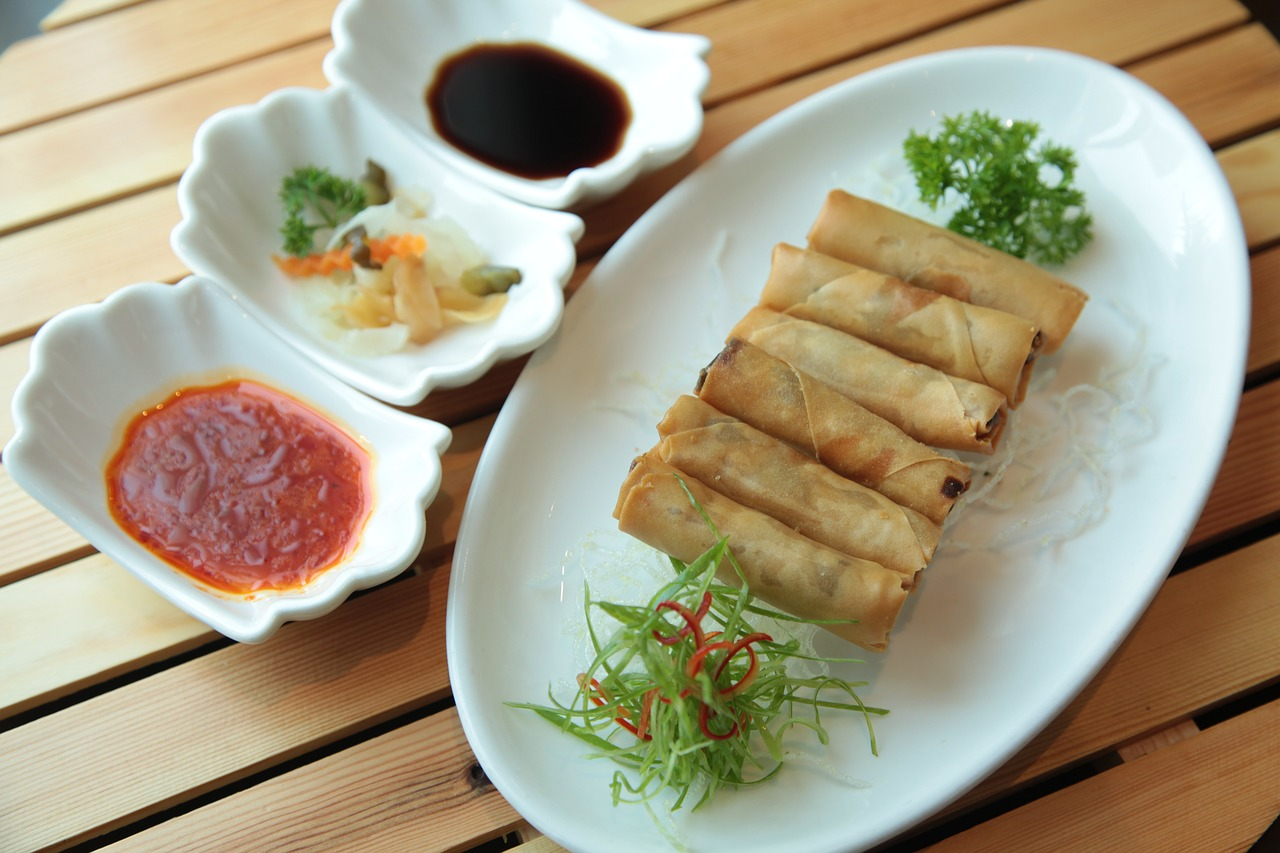 Image of Chinese egg rolls