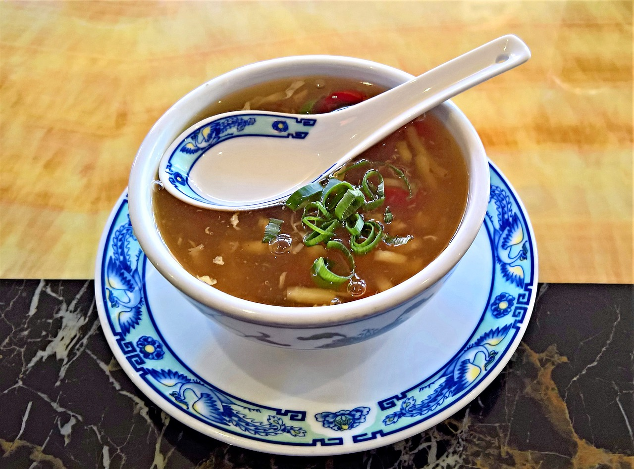 bowl of Chinese soup