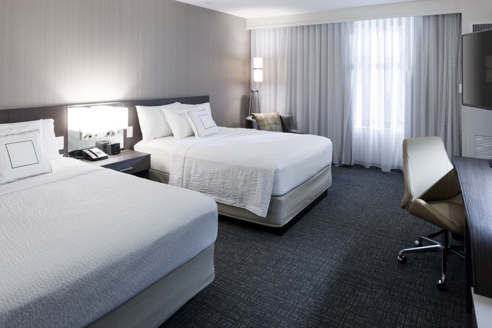 Photo of Courtyard by Marriott Richmond Downtown - Richmond, VA, United States. Traveling with a friend? Book our Queen/Queen Room for extra bed space, free WiFi and flat-screen TV.