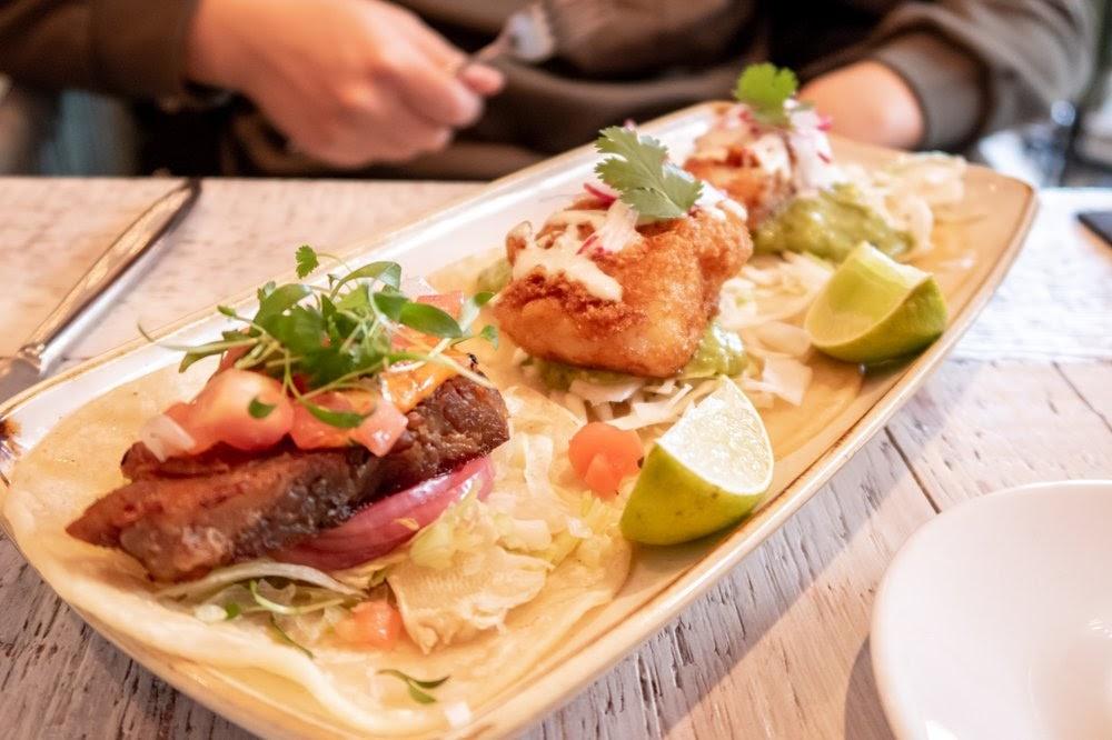 Photo of Citrus & Salt - Boston, MA, United States. Pork Belly and Fish Taco