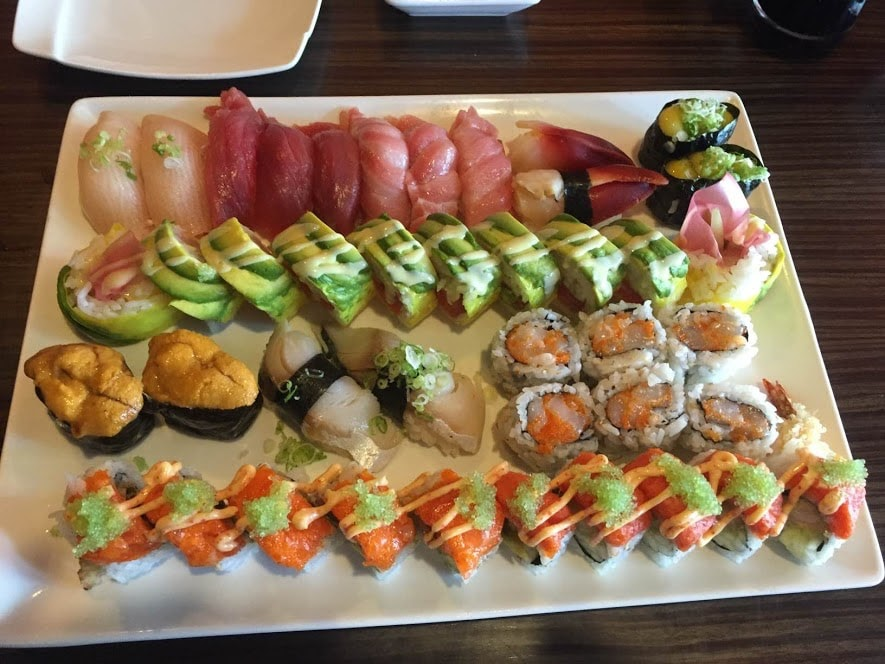 delicious sushi from Ginza