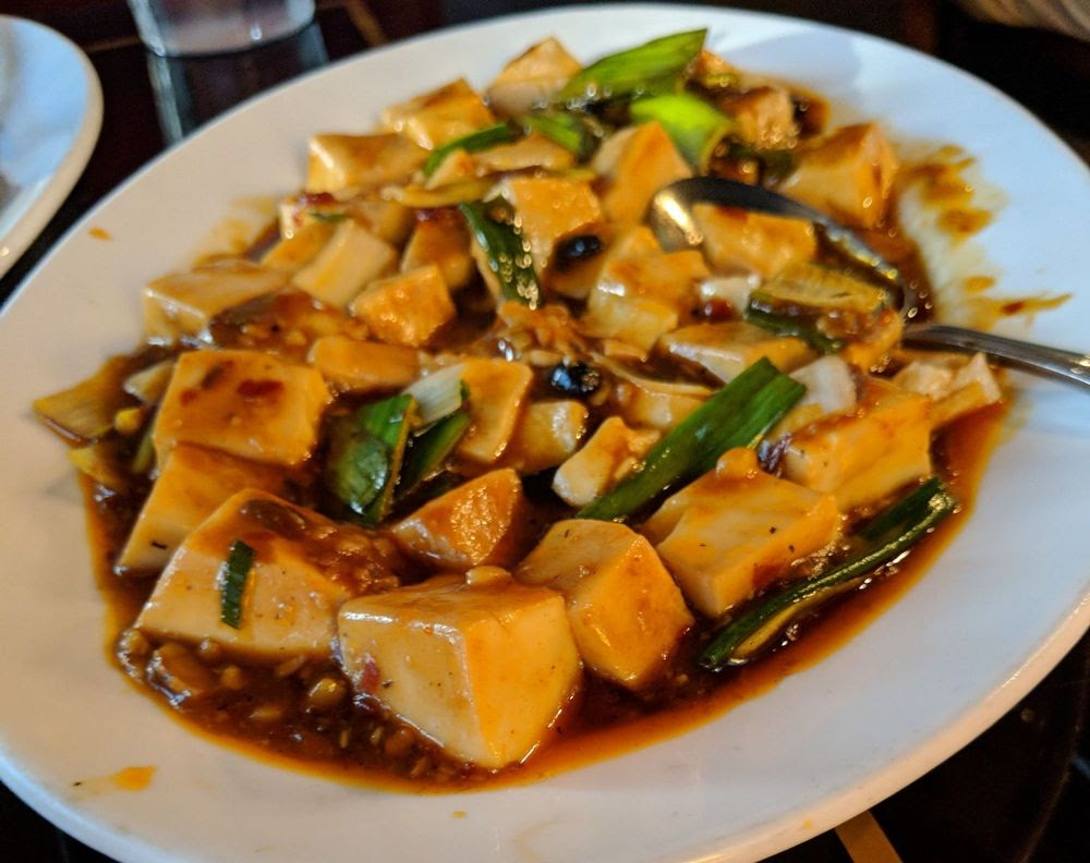 Photo of Jasmine Szechuan Chinese Cuisine and Tsubaki Sushi Bar - Louisville, KY, United States. The MaPo Tofu is spicy and authentic