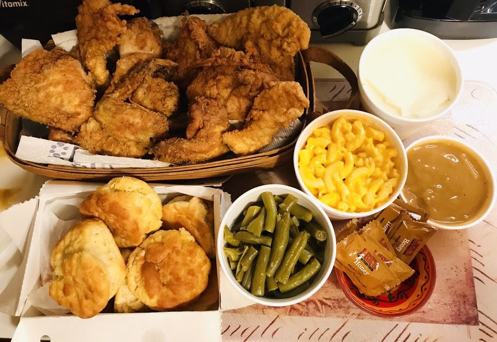 Photo of Lee's Famous Recipe Chicken - Richmond, VA, United States. Chicken and the fixings