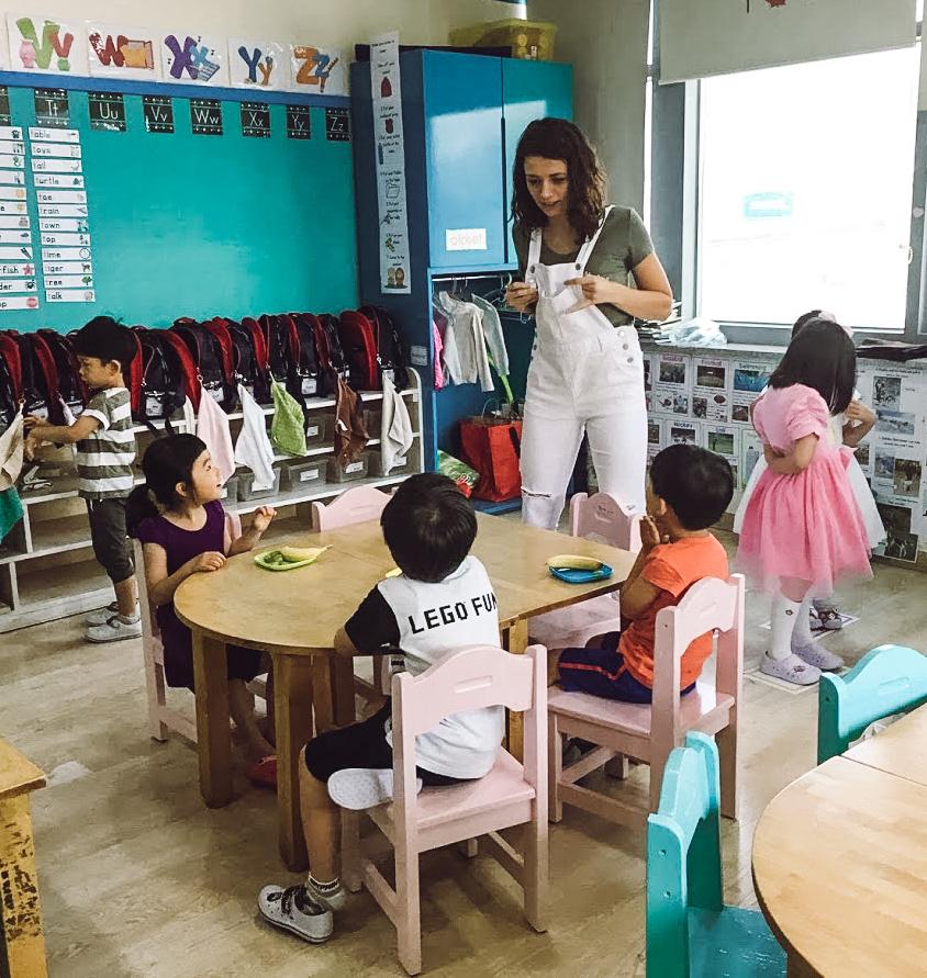 work in seoul as an english teacher