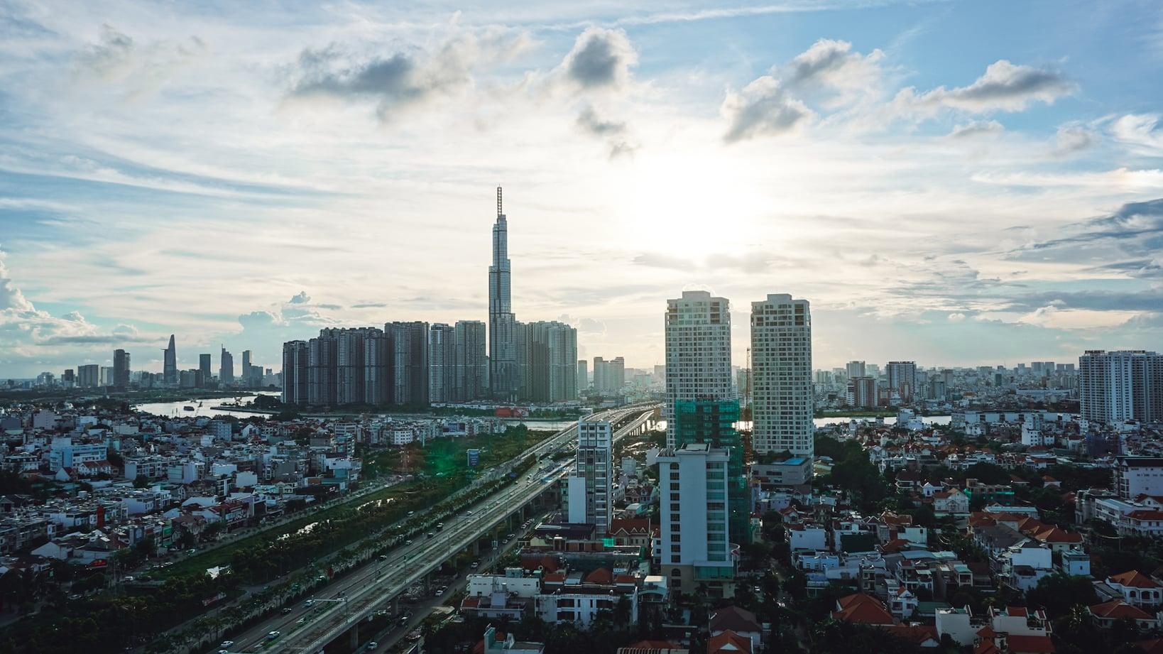 View of Ho Chi Minh City, Vietnam