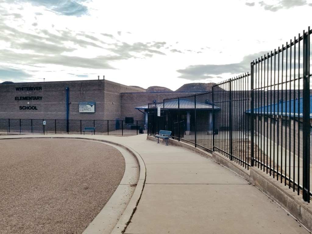Whiteriver Elementary School on the Fort Apache Reservation in Arizona