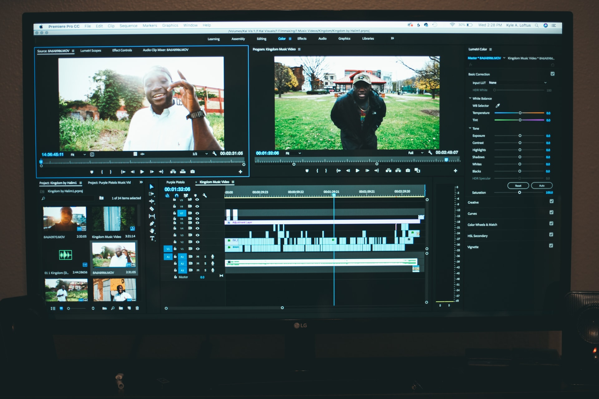 A screenshot of a video editor working on Adobe Premier Pro CC