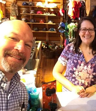 RV Couple working a seasonal job at a general store at Grand Teton National Park