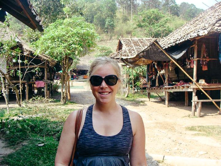 An American English teacher in Thailand visiting a small Thai village
