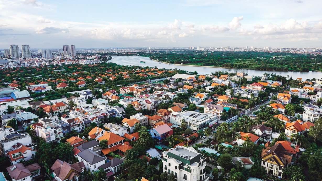 rooftop view of Thao Dien, expat neighborhood in Ho Chi Minh City, Vietnam