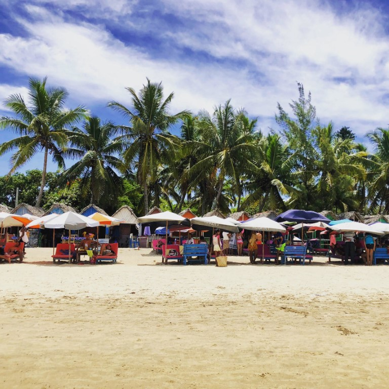 A sunny day at the beach in Madagascar for a Peace Corps volunteer