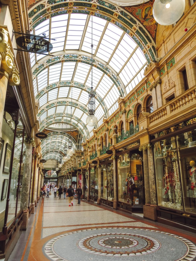 A view of the Victoria Quarter Arcade, a shopping centre in Leeds with very colonial architecture