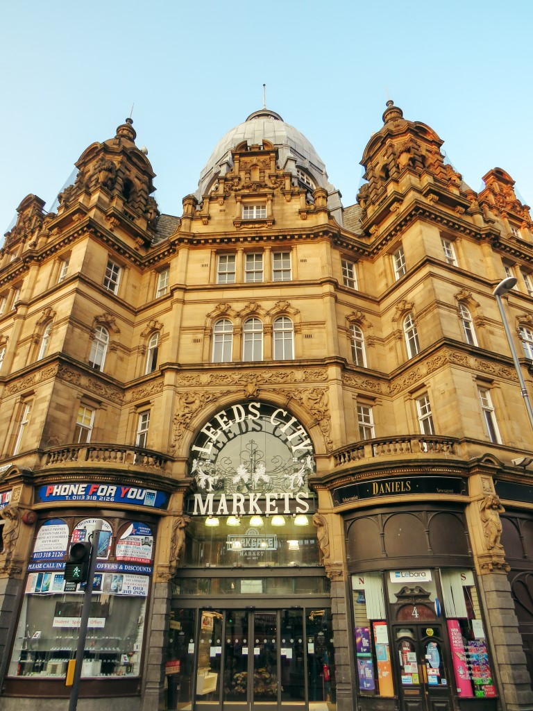 A front view of the beautiful Leeds City Market