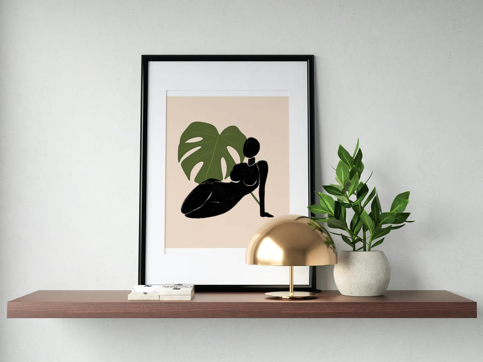 A mockup from a black owned digital prints shop on Etsy