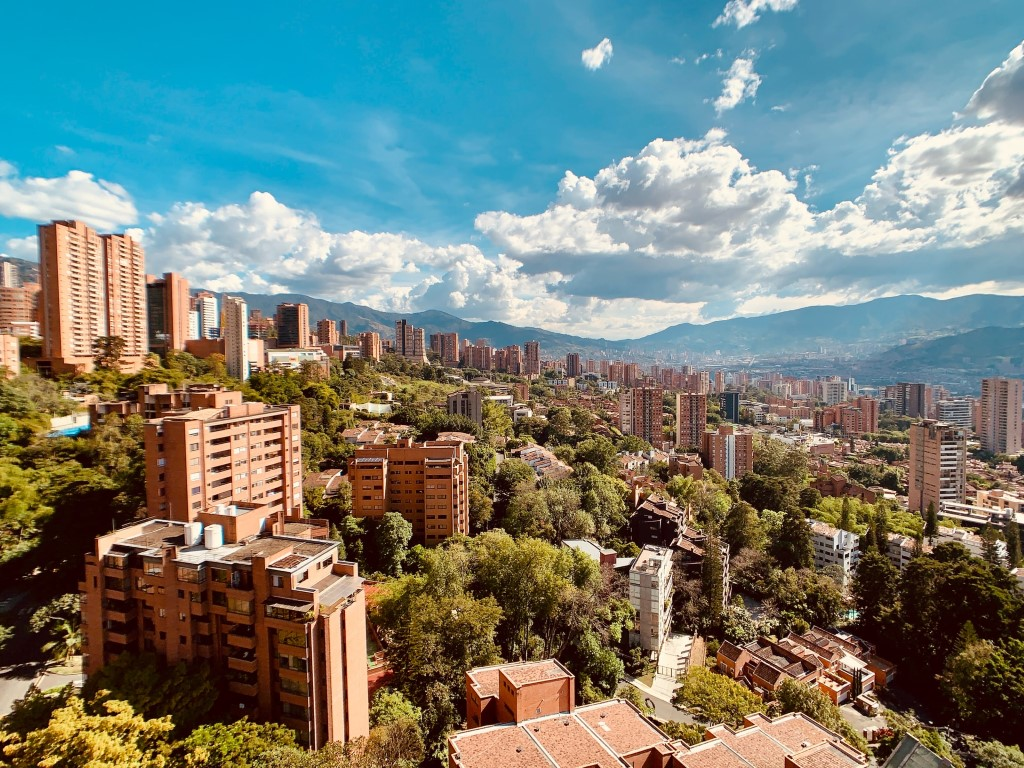 Medellín, Colombia on a beautiful day