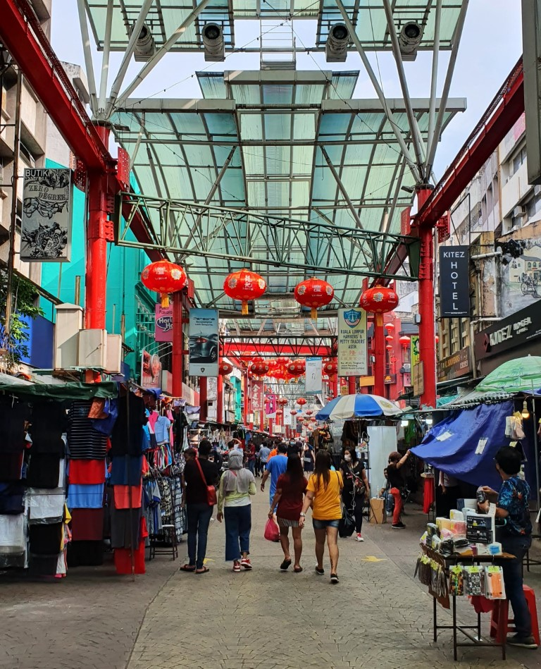 Petaling Street in Chinatown (normally would be crowded with people and stalls)