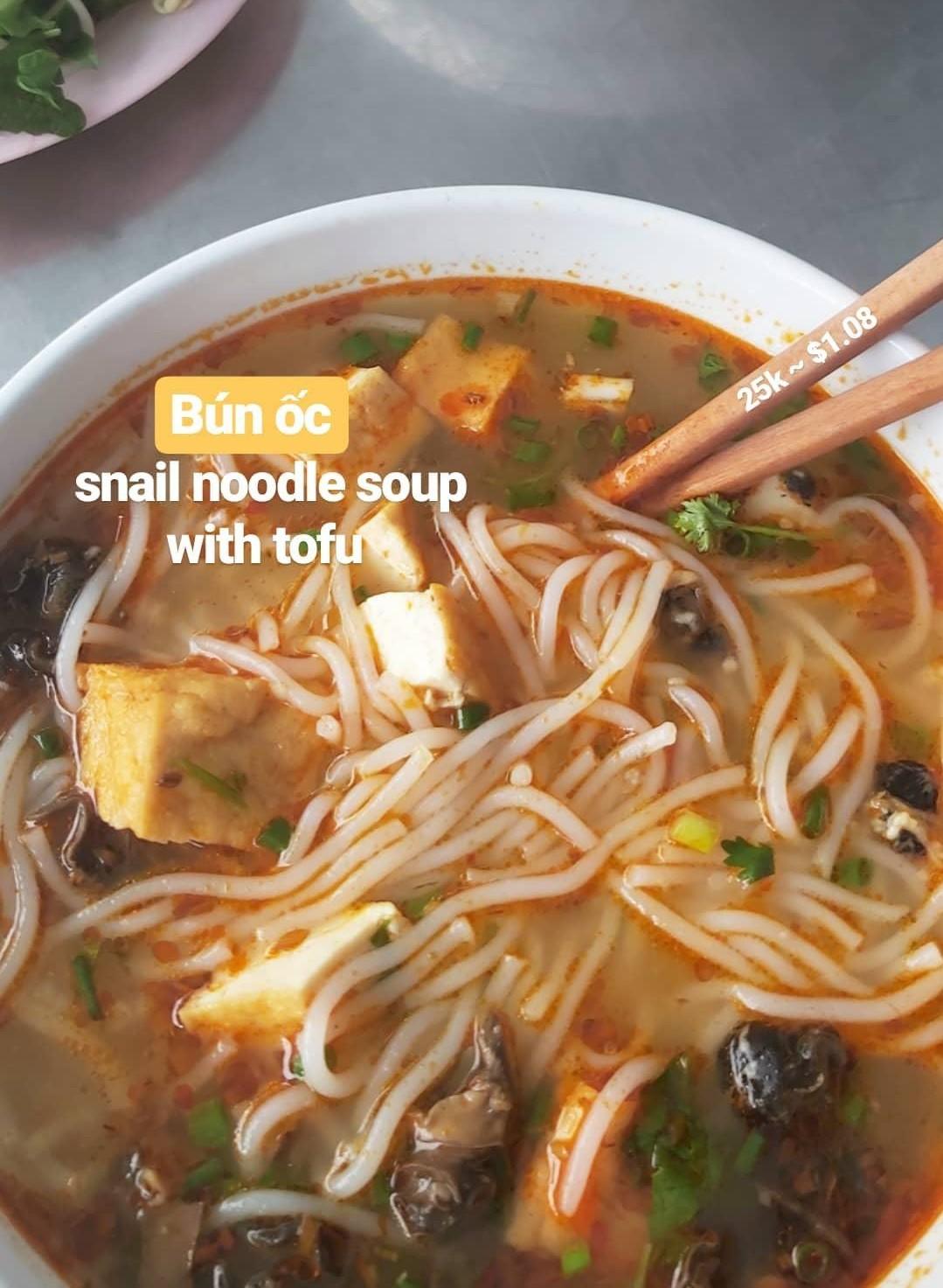 snail noodle soup in vietnam