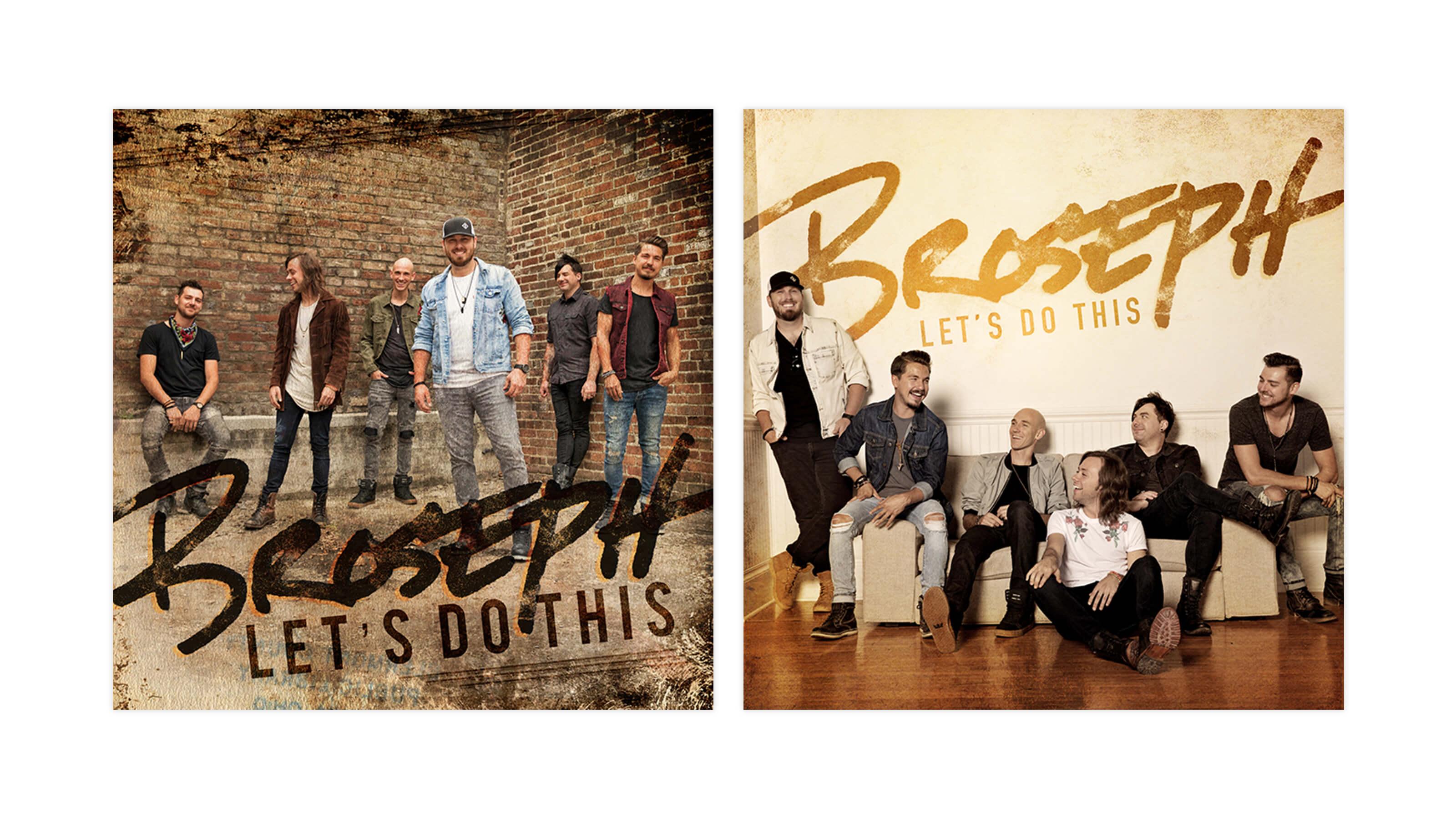 Broseph unused EP Album covers designed by Ben Fieker for Fieker Brothers website