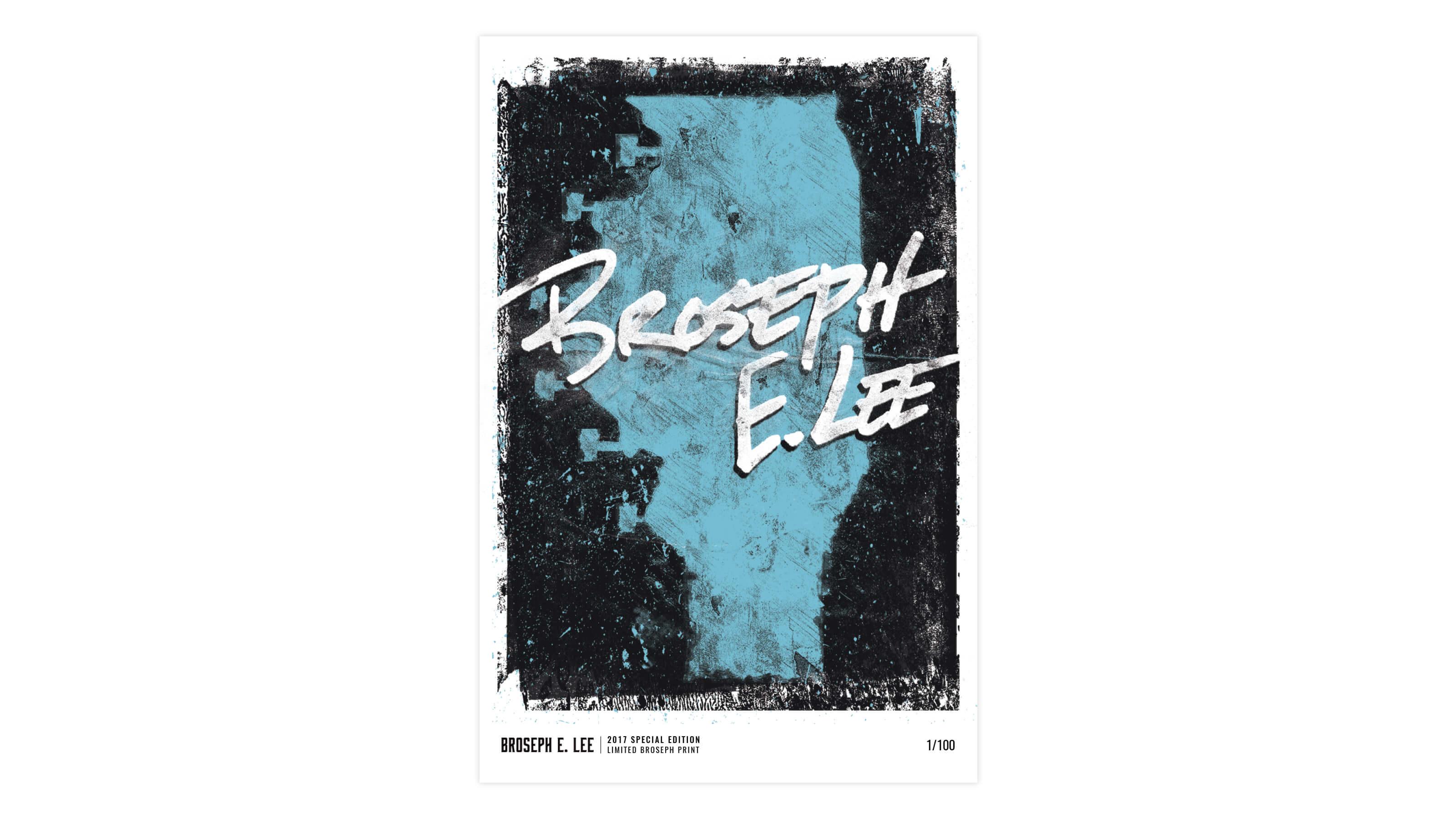 Broseph music Kickstarter Poster by Ben Fieker for Fieker Brothers website