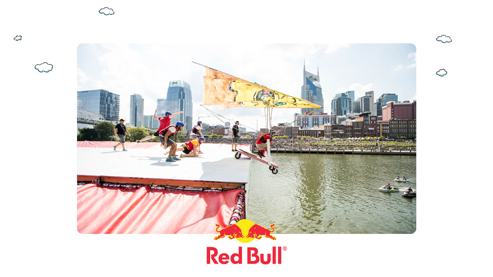 Team ST8MNT Hang glider flight for Red Bull Flugtag Nashville 2017