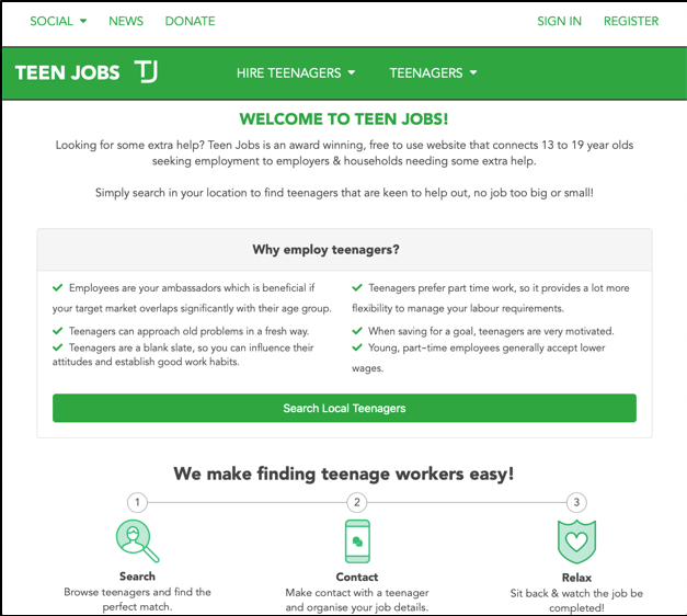 If Teen Jobs can lower the youth unemployment rate by 1%, it will save the  country $34.5 million!