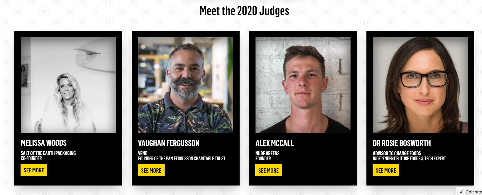 Introducing our YiA 2020 Judges