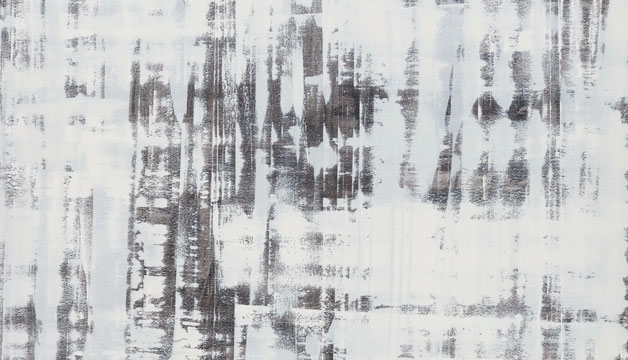 Morgan Studio abstract painting in gray and white