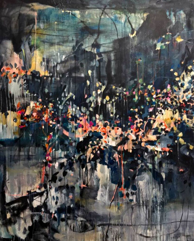 Abstract painting by Vicky Barranguet