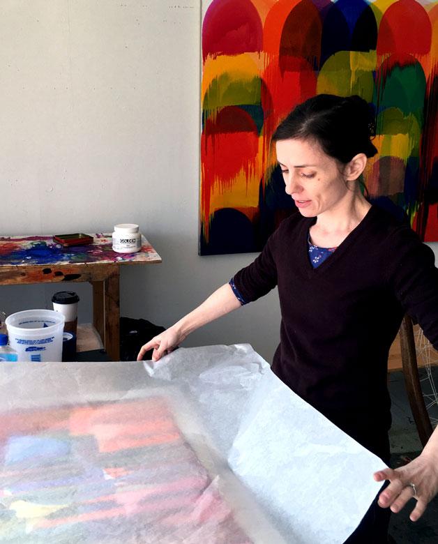 Svetlana Rabey in her studio