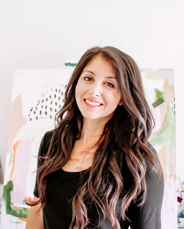 Patricia Vargas in her studio
